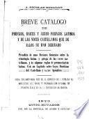 Breve catálogo de prefijos, raíces y seudoprefijos latinos y de las voces castellanas que de ellos se han derivado