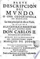 Breve descripción del mundo, ó guia geographica de medrano