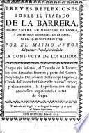 Breves Reflexiones, sobre el Tratado de la Barrera. ... Traducido del Inglès, etc