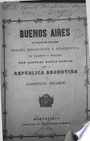 Buenos-Aires a vol d'oiseau