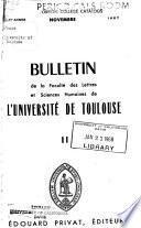 Bulletin de l'Université et de l'Académie de Toulouse