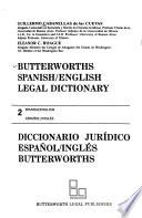 Butterworths Spanish/English Legal Dictionary: Spanish-English