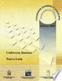 Cadereyta Jiménez estado de Nuevo León. Cuaderno estadístico municipal 2000