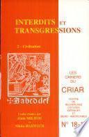 Cahier du CRIAR n°17 : Interdits et transgressions 2