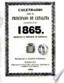 Calendario para el principado de Cataluña correspondiente al año 1865