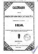 Calendario para el principado de Cataluña correspondiente al año bisiesto 1856