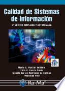 Calidad de Sistemas de Información. 3ª edición ampliada y actualizada
