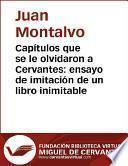 Capítulos que se le olvidaron a Cervantes: ensayo de imitación de un libro inimitable