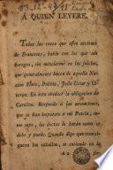 Carta al Serenssimo may alto y muy poderoso Luis XIII, Rey Christianissimo de Francia