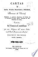 Cartas de Santa Juana Francisca Fremiot, Baronesa de Chantal, fundadora y primera Superiora del Orden de la Visitación de Santa María, Instituto de San Francisco de Sales