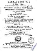 CARTAS ERUDITAS, Y CURIOSAS