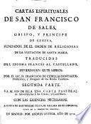 Cartas esprituales de Sant Francesc de Sales
