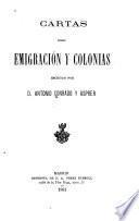 Cartas sobre emigración y colonias