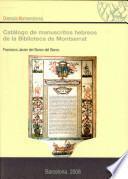 Catálogo de manuscritos hebreos de la biblioteca de Montserrat