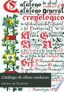 Catálogo de obras euskaras