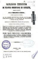 Catálogo metódico de plantas observadas en Cataluña...