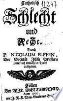 Catholisch Schlecht und Recht