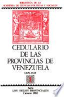 Cedulario de las provincias de Venezuela, 1529-1552
