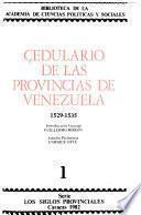 Cedulario de las provincias de Venezuela, 1535-1552