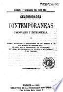 Celebridades contemporaneas nacionales y estranjeras, ó, Cuadros biográficos ...