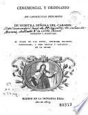 Ceremonial y ordinario de Carmelitas Descalzos de Nuestra Sra. del Carmen