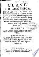 Clave philosophica