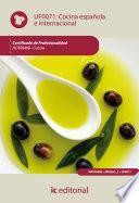 Cocina española e internacional. HOTR0408