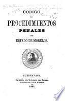 Código de procedimientos penales del estado de Morelos