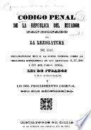 Código penal ... sancionado por la lejislatura de 1837