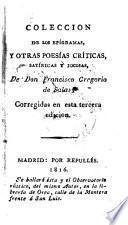 Coleccion de los epígramas y otras poesías críticas, satíricas y jocosas de Don Francisco Gregorio de Salas