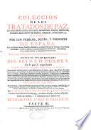 Coleccion de los tratados de paz, alianza, neutralidad,