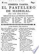 Comedia famosa: El Pastelero de Madrigal