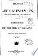 Comedias escogidas de Frey [sic] Lope Félix de Vega Carpio