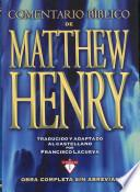 Comentario Biblico De Matthew Henry