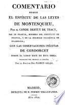 Comentario sobre el Espíritu de las leyes de Montesquieu