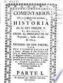 Comentarios de la guerra de España e historia de su rey Phelipe V el Animoso, desde el principio de su reynado hasta el año de 1725