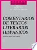 Comentarios de textos literarios hispánicos