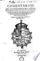 Commentarios del Reverendissimo Señor Frai Bartholome Carrança De Miranda ... Sobre El Catechismo Christiano