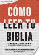 Cómo leer tu Biblia