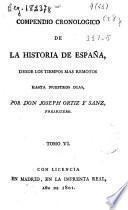 Compendio cronológico de la historia de España desde los tiempos más remotos hasta nuestros días