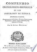 Compendio cronológico histórico de los soberanos de Europa