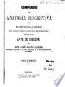 Compendio de anatomía descriptiva y elementos de la general con nociones de anatomía microscopica seguido de un arte de disecar