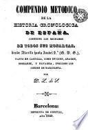 Compéndio de la historia cronológica de España