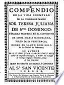 Compendio de la vida de Sor Teresa-Juliana de Sto. Domingo