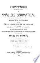 Compendio teórico-prático de análisis gramatical