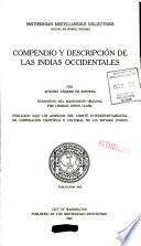 Compendio y Descripcion de Las Indias Occidentales
