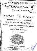 Compendium latino-hispanum