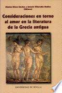 Consideraciones en torno al amor en la literatura de la Grecia Antigua