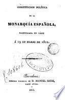 Constitución política de la monarquia española