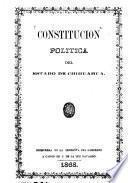 Constitución politica del estado de Chihuahua